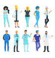 doctor set physician man vector image vector image