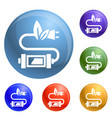 eco plug icons set vector image