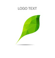 ecology logo or icon in eps nature logotype vector image vector image