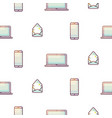 electronic devices portable seamless gradient vector image vector image
