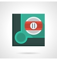 Eleventh pool ball flat square icon vector image vector image