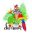 enjoy summer ice cream vector image vector image