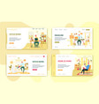 freelance and office work landing page set design vector image