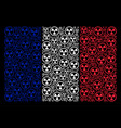 french flag mosaic of radioactive icons vector image