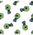 Gas mask seamless pattern vector image vector image