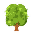 green tree nature and environment ecology concept vector image vector image