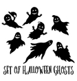 Halloween Ghosts Silhouettes vector image