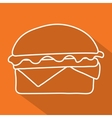 hamburger icon symbol with long shadow vector image vector image