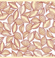hand drawn pasta conchiglie seamless pattern vector image vector image