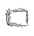 hand drawn square minimalistic frame with spring vector image vector image