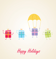 Happy gifts presents waving and being excited vector image vector image