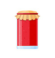 homemade sweet dessert packed jar with jam for tea vector image vector image