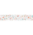 horizontal banner christmas characters on white vector image vector image
