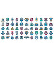 huge set colorful sports logos emblems vector image vector image