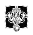 Indian elephant with the word India vector image