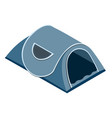 isolated tent in isometric style vector image vector image