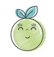 kawaii nice happy orange fruit vector image vector image