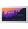 landing page template for business vector image vector image