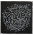 Love hand lettering and doodles elements sketch vector image vector image