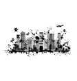 metropolis abstract silhouette for your design vector image