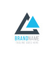 modern and simple two triangle logo template vector image vector image