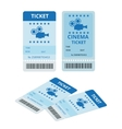 Modern cinema tickets isolated on write vector image vector image