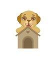 Puppy Standing Behind Kennel vector image vector image
