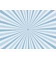 retro blue sunburst and rays comic cartoon vector image vector image