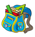 school bag with books vector image vector image