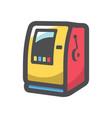 slot machine gambling icon cartoon vector image