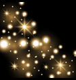 star way with sparkles golden color vector image