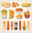 Street food from different countries vector image vector image