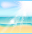 summer beach and tropical sea with sunlight vector image