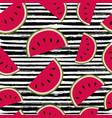 summer watermelon fruit seamless pattern art vector image vector image
