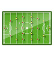 table football game top view vector image