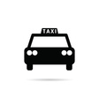 taxi icon in black color vector image