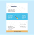 template layout for screw driver comany profile vector image vector image