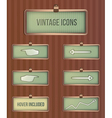 vintage rectangular icons vector image