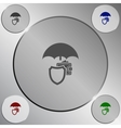 Wallet Protection Icon Flat Design vector image vector image