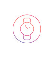 watch thin line icon vector image