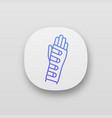 wrist brace app icon vector image vector image