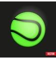 Symbol soft tennis ball vector image
