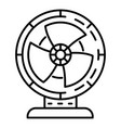 air fan icon outline style vector image vector image