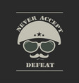 army helmet emblem vector image vector image