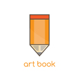 art book flat design template with pencil vector image vector image