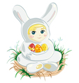 Baby Easter Bunny vector image vector image
