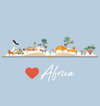book with famous destination africa vector image