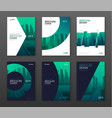 brochure cover design layout set for business vector image vector image