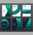 Brochure cover design layout set for business