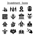 business investment icon set vector image